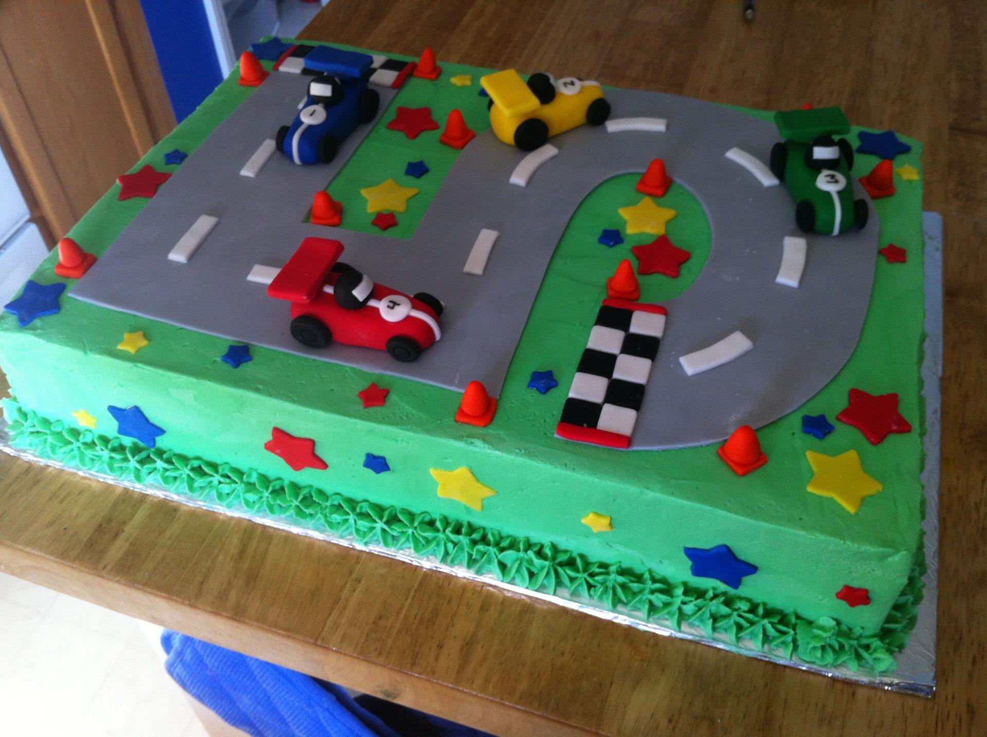 Number  Race Track Birthday Cake