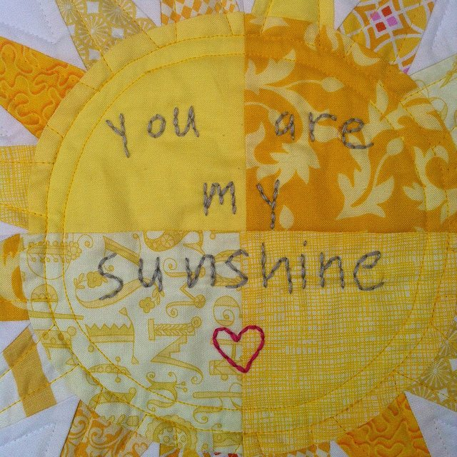 you are my sunshine mini quilt