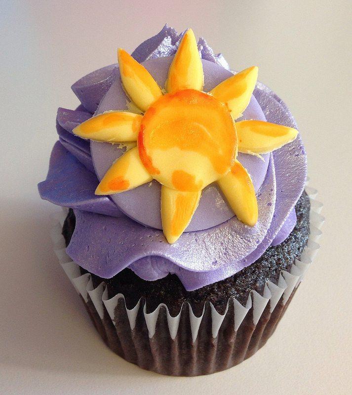 tangled cupcake.  the sun.