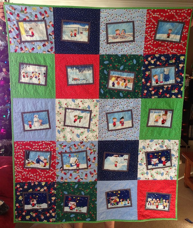 charlie brown christmas quilt
