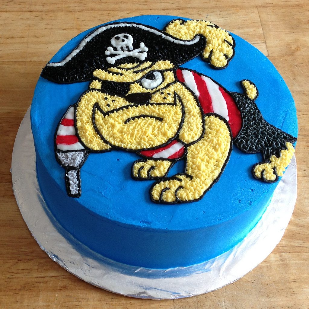 pirate bulldog cake
