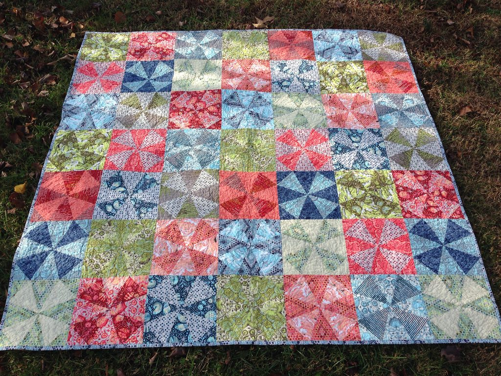 salt water kaleidoscope quilt.