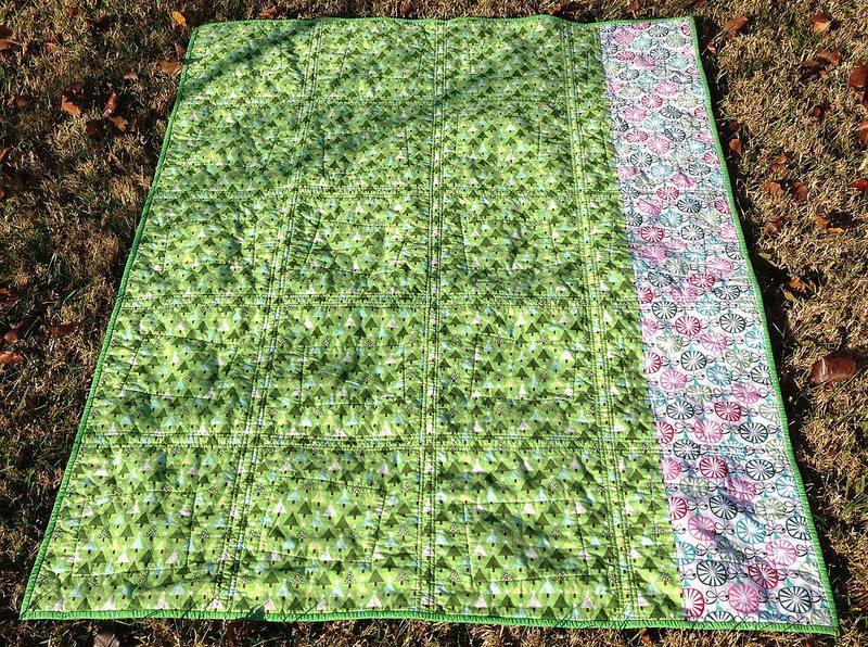 charlie brown quilt.  back.