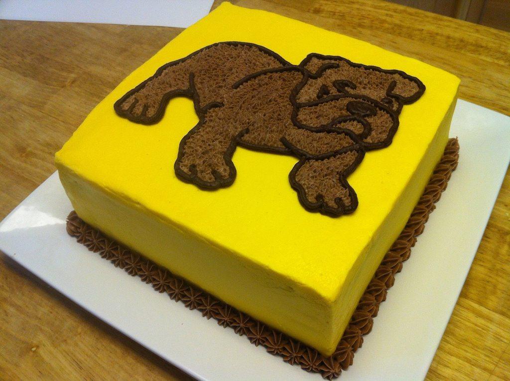 yellow bulldog cake for z.