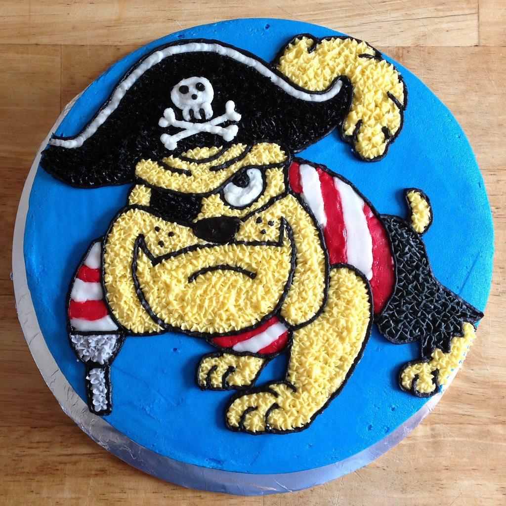 pirate bulldog cake