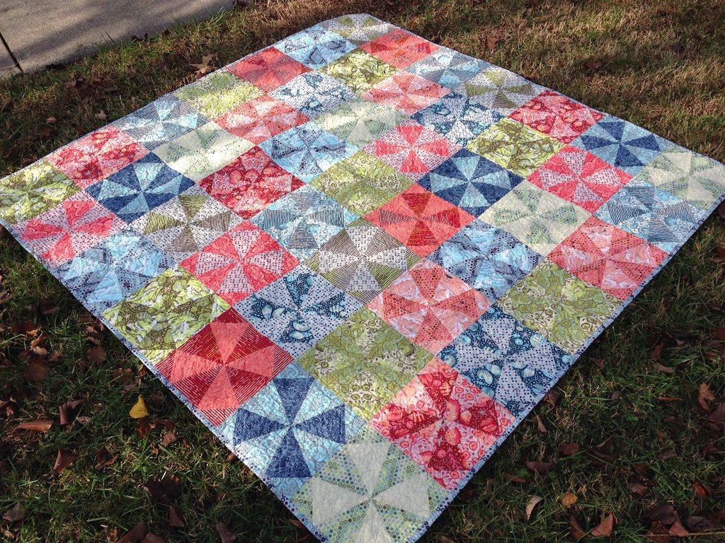 salt water kaleidoscope quilt.